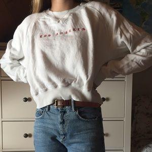 Brandy Melville cropped LA sweatshirt